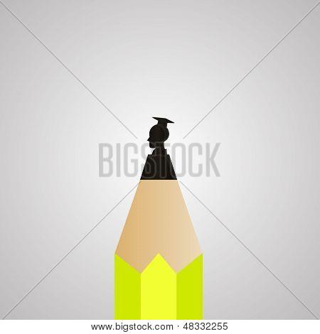 Graduate On Pencil Tip