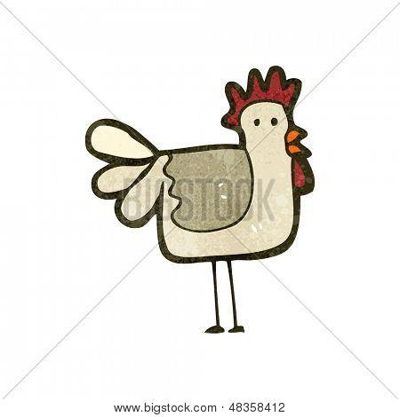 retro cartoon chicken