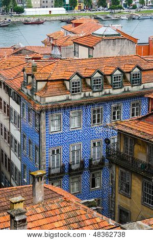 Red Roofs In Old Porto, Portugal