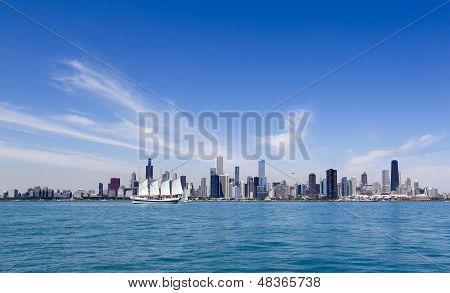 Summer Chicago Skyline