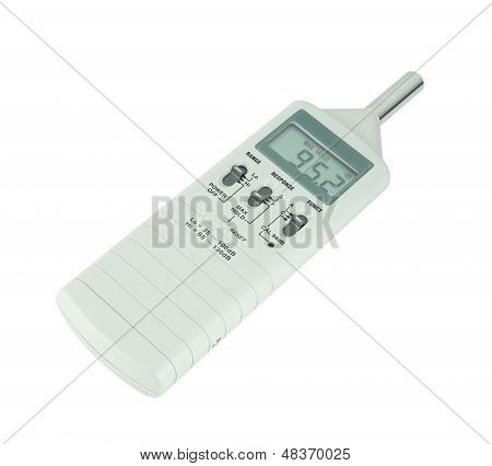 sound level meter on white background (with clipping path) poster