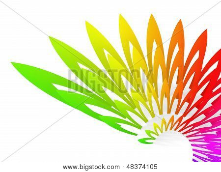Colorful Abstract Background With Wing-shaped Geometric Structure