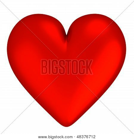 3D Red Heart - Isolated