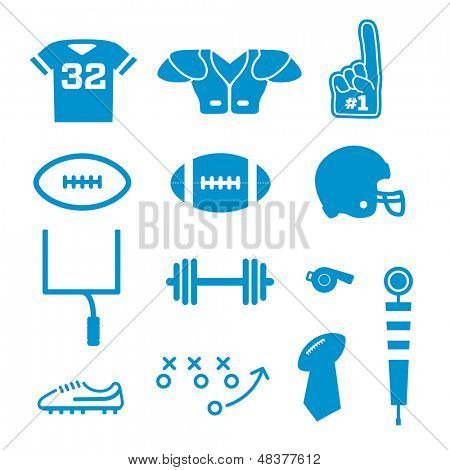 Vector Football Icons Collection poster