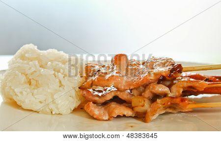 Roast Pork With Sticky Rice