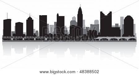Columbus City Skyline Silhouette