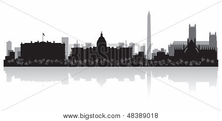 Washington City Skyline Silhouette