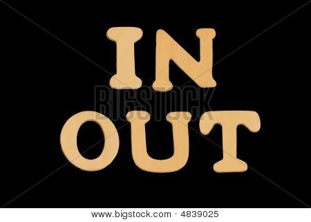 Wooden Word Inout