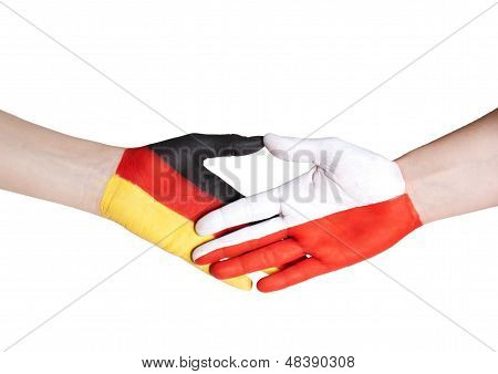 Handshake Between Germany And Poland