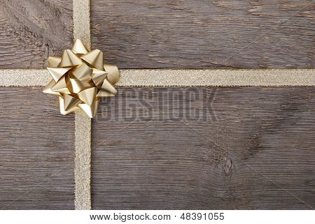 Golden Bow On Golden Ribbon