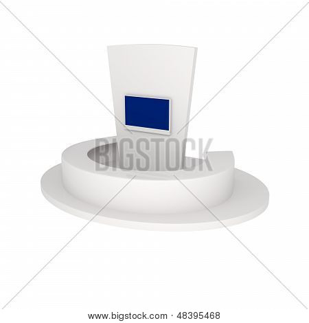 Rendering Of Exhibition Stand Isolated On White