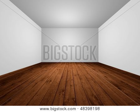 White Room With Wood Floor