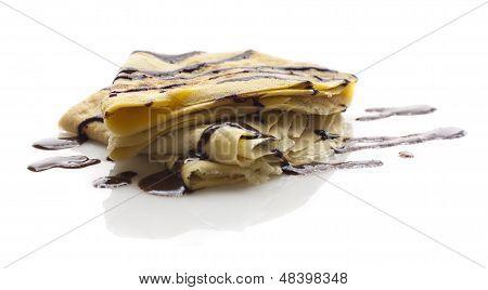 pancake with chocolate