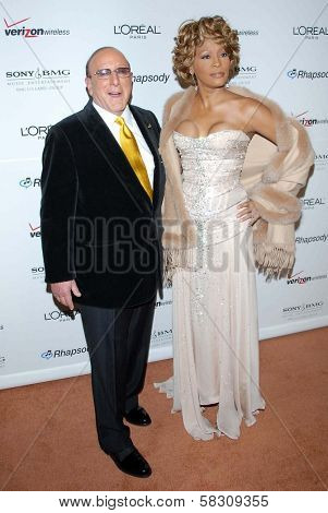 Clive Davis and Whitney Houston at the 2007 Clive Davis Pre-Grammy Awards Party. Beverly Hilton Hotel, Beverly Hills, CA. 02-10-07