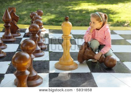 The girl and chess