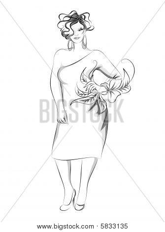Plus-size fashion illustration