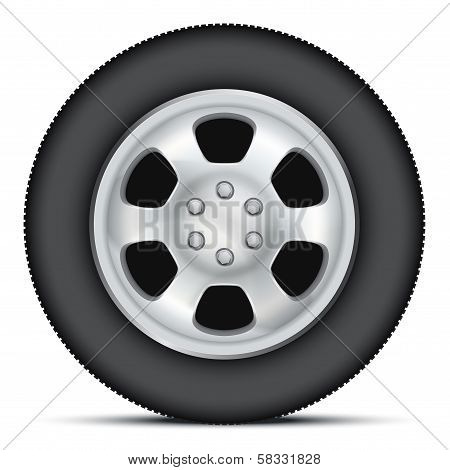 Illustration Wheel of car.