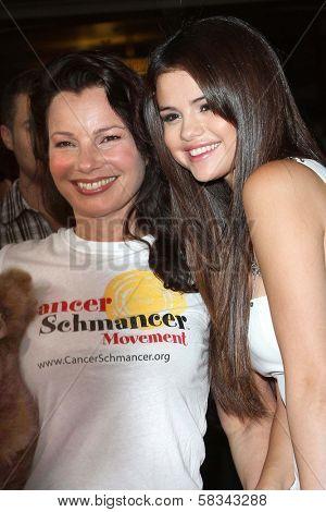 Fran Drescher, Selena Gomez at the