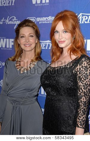 Sharon Lawrence, Christina Hendricks at the Variety and Women In Film Pre-Emmy Event, Scarpetta, Beverly Hills, CA 09-21-12