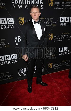 Daniel Craig at the 2012 BAFTA LA Britannia Awards, Beverly Hilton, Beverly Hills, CA 11-07-12