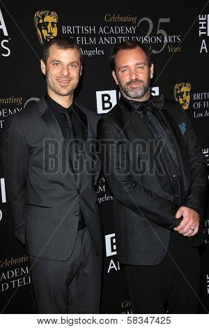 Matt Stone, Trey Parker at the 2012 BAFTA LA Britannia Awards, Beverly Hilton, Beverly Hills, CA 11-07-12
