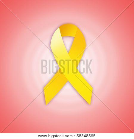 Yellow Ribbon For Endometriosis
