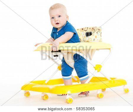 Little Child In The Baby Walker.