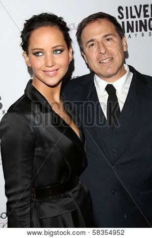 Jennifer Lawrence, David O. Russell at the