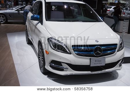 Detroit - January 26 :the New 2014 Mercedes-benz B-class Electric At The North American Internationa