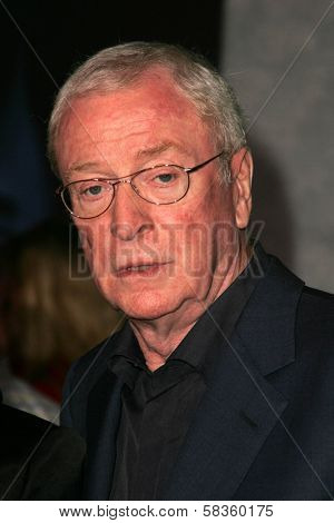 Michael Caine at the World Premiere of