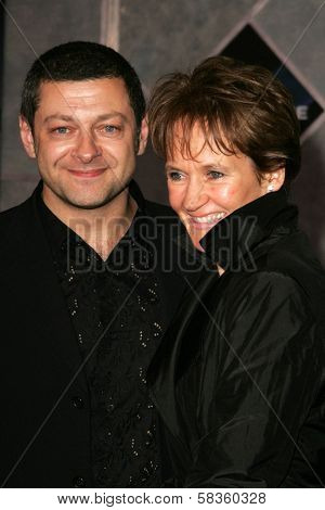 Andy Serkis and Lorraine Ashbourne at the World Premiere of