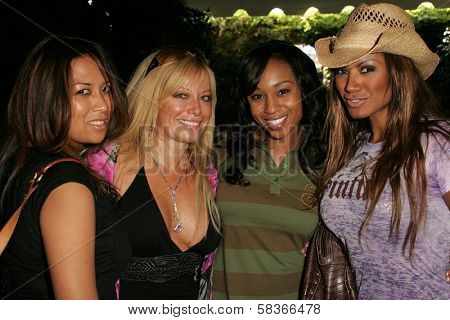 Cristiana Proietti and Gloria Kisel with Zee James  at 2006 Safari Brunch Fundraiser For The Wildlife Waystation. Playboy Mansion, Los Angeles, CA. 10-14-06