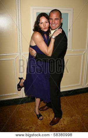Jorja Fox and George Eads at The Museum of Television & Radio's Annual Los Angeles Gala. Regent Beverly Wilshire Hotel, Beverly Hills, CA. 10-30-06