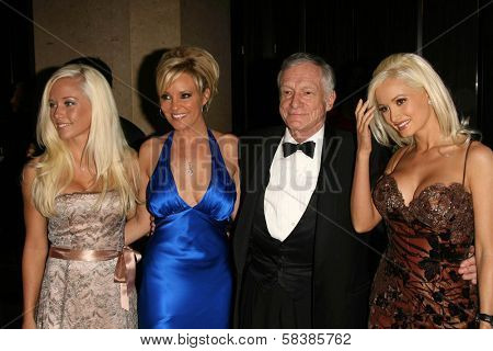 Hugh M. Hefner and friends at the 21st Annual American Cinematheque Award Honoring George Clooney. Beverly Hilton Hotel, Beverly Hills, CA. 10-13-06