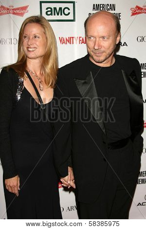 Deborah Rennard and Paul Haggis at the 21st Annual American Cinematheque Award Honoring George Clooney. Beverly Hilton Hotel, Beverly Hills, CA. 10-13-06