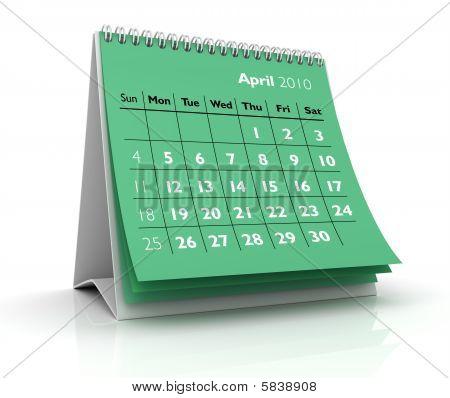 2010 Calendar. April