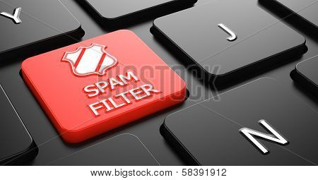 Spam Filter on Red Keyboard Button.