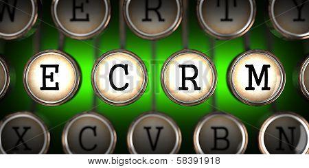 Old Typewriter's Keys with ECRM Slogan.