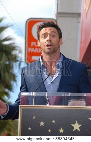 Hugh Jackman at the Hugh Jackman Star on the Hollywood Walk of Fame Ceremony, Hollywood, CA 12-13-12