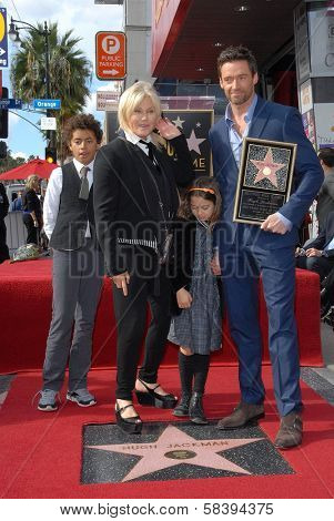 Hugh Jackman and Deborra-Lee Furness at the Hugh Jackman Star on the Hollywood Walk of Fame Ceremony, Hollywood, CA 12-13-12