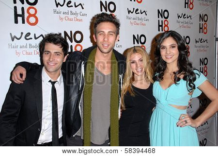 Freddie Smith, Blake Berris, Kate Mansi, Camila Banus at the NOH8 Campaign 4th Anniversary Celebration, Avalon, Hollywood, 12-12-12