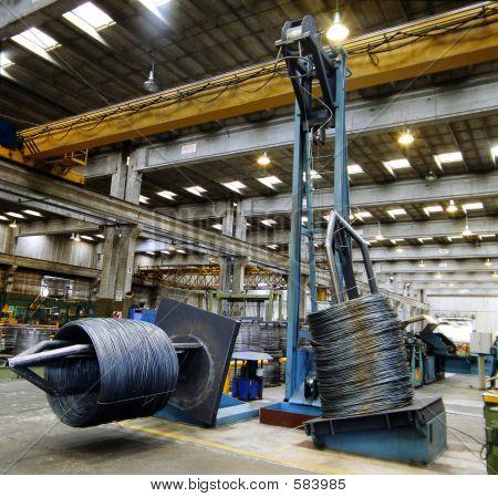 Inside Of A Steel Factory