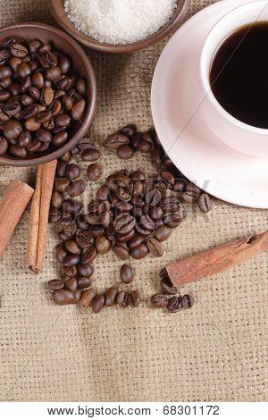 Robusta Coffee Beans at Goni Sack