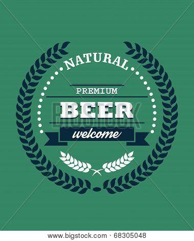 Natural Premium Beer label