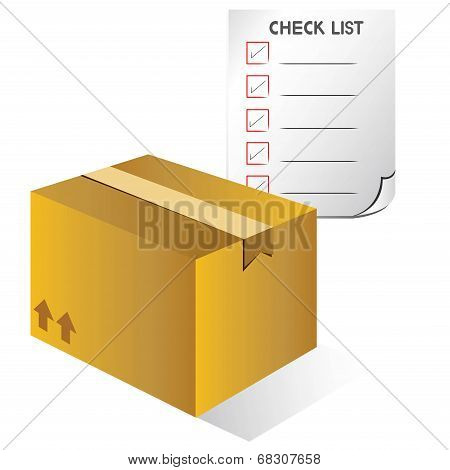 carton box and check list