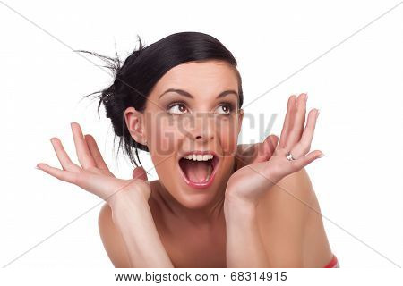 Young Woman Expression - Surprised