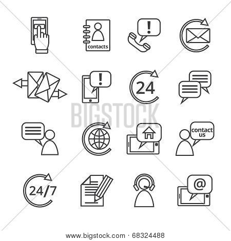 Contact Us Service Icons