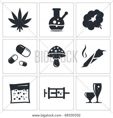 Drugs Icon Set