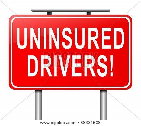 Uninsured Drivers Concept.
