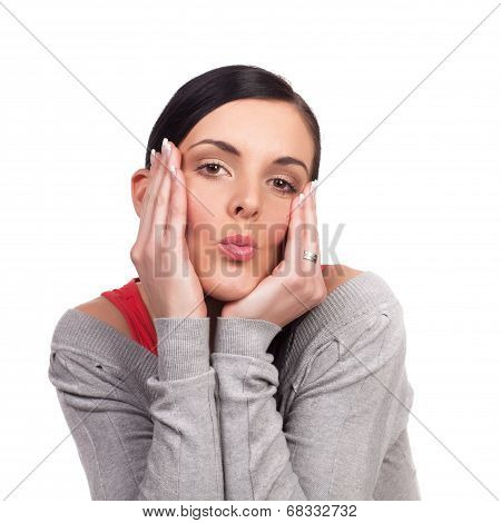 Young Woman Sending Kiss